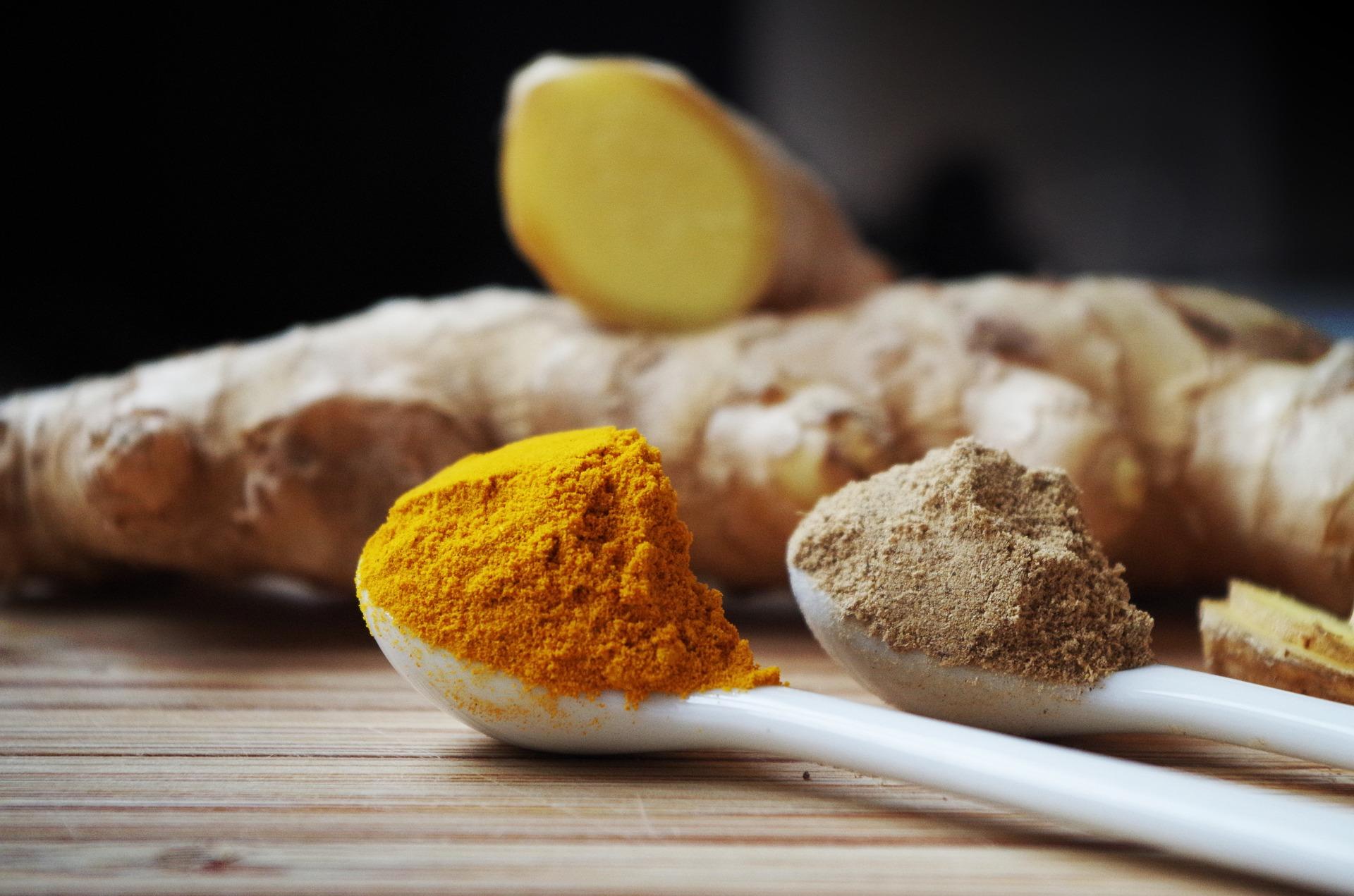 Ginger turmeric food mood
